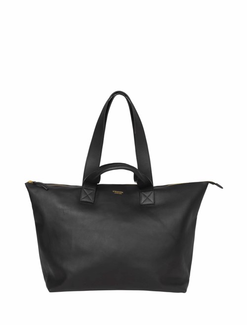 Weekend taske - Mini Big Bag <br /> Sort skind
