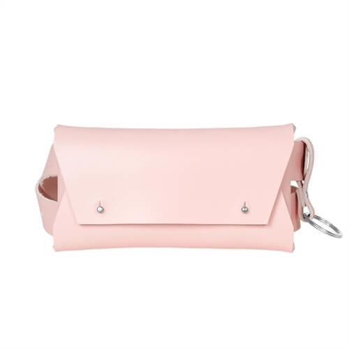 Leather Belt Bag <br />  Rose leather with silver details